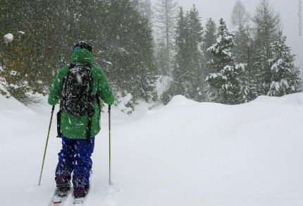 backcountry skiing Lookout Pass splitboarding Wallace Idaho