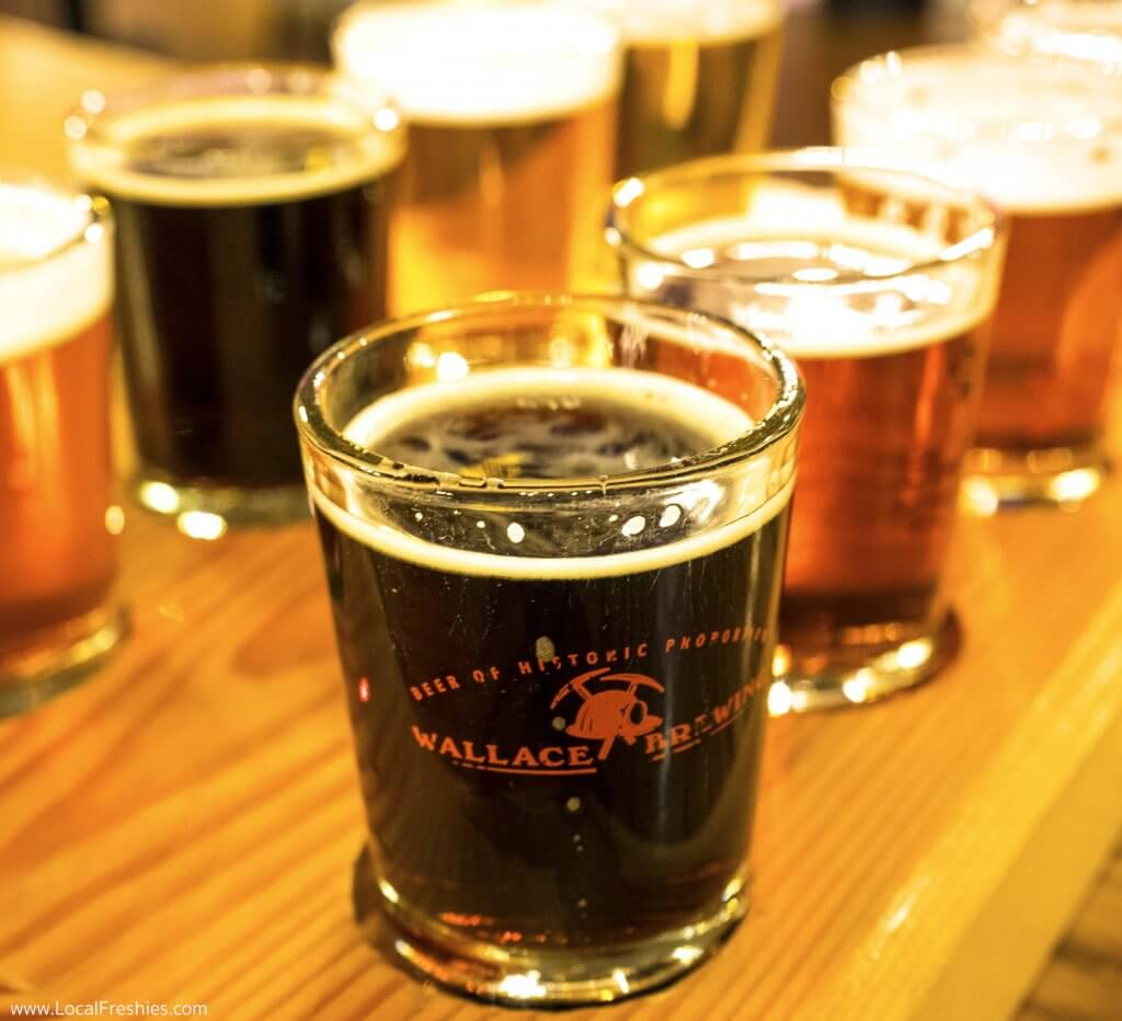 Wallace Brewing Idaho Beer sampler