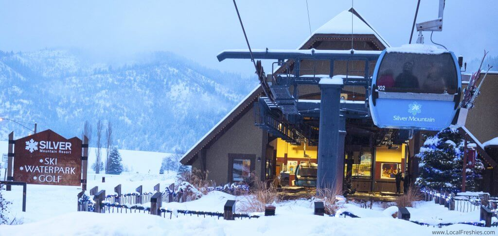 Silver Mountain Gondola evening