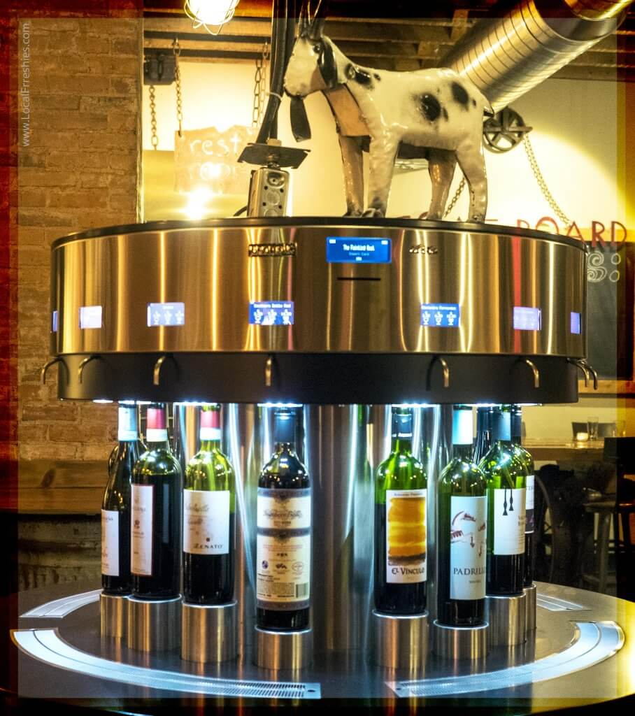 Silver Mountain Things to Do Fainting Goat Wine Dispenser