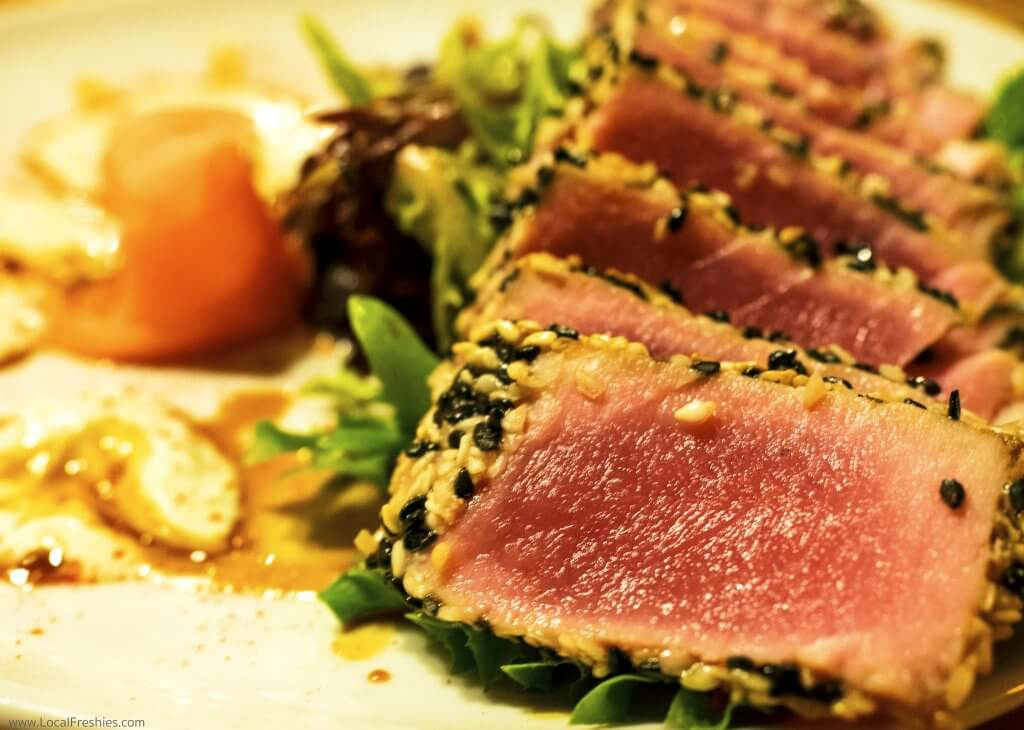 Silver Mountain Things to Do Fainting Goat Seared Ahi