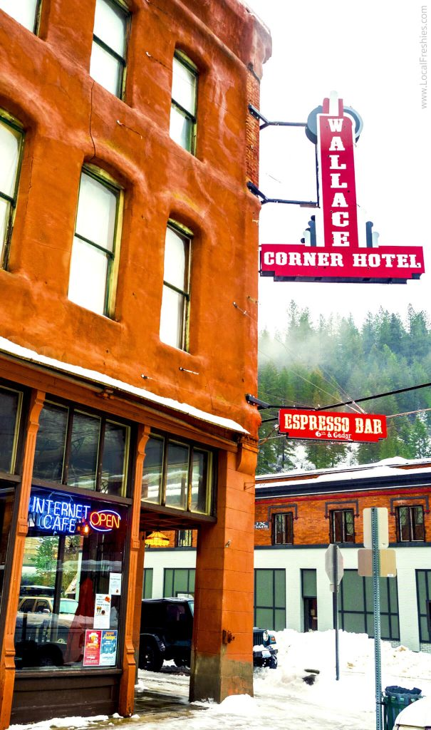 Wallace Idaho 6th & Cedar Espresso Bar Wallace Corner Hotel Exterior