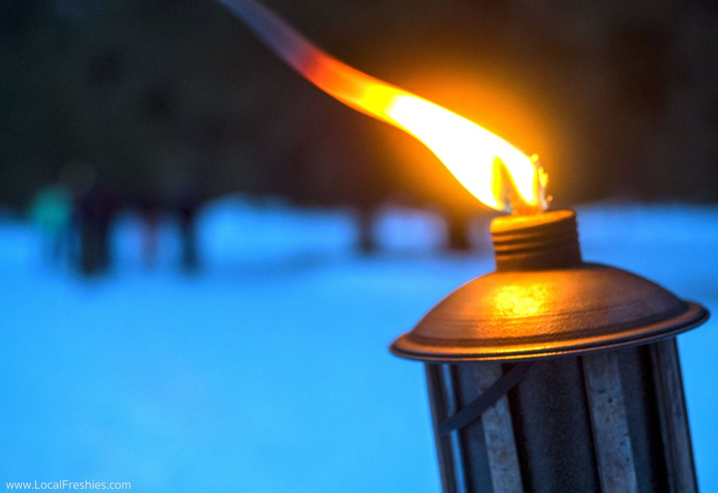 McCall Idaho Winter Tikki Torch Flame