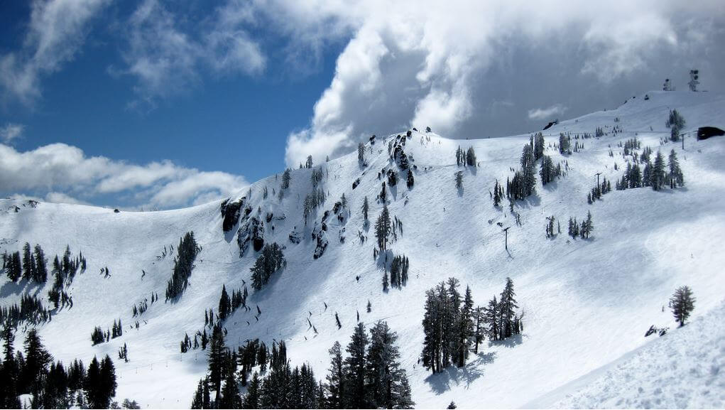 Alpine Meadows best spring skiing above treeline