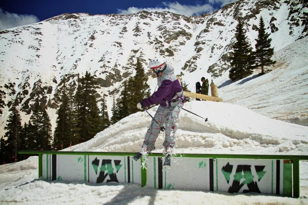 Arapahoe Basin Colorado A-Basin best spring skiing rail shredding
