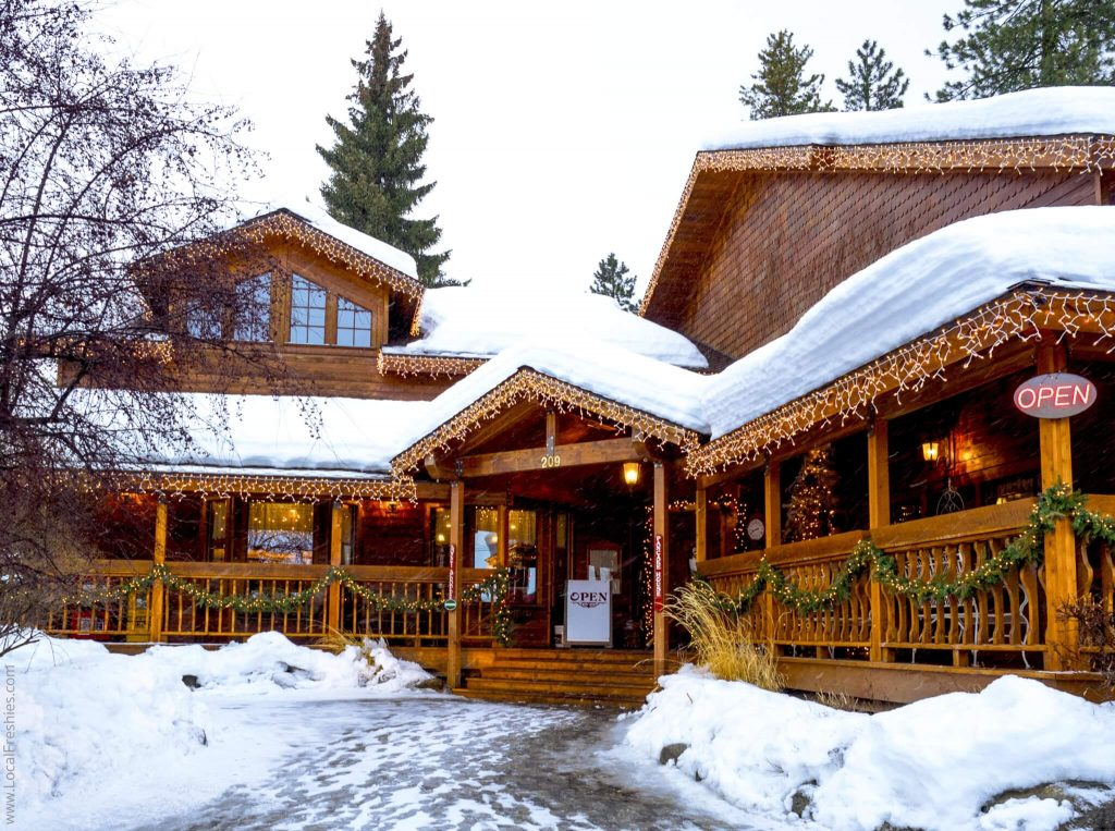 McCall Idaho Burgdorf Hot Springs Pancake House Exterior Snow