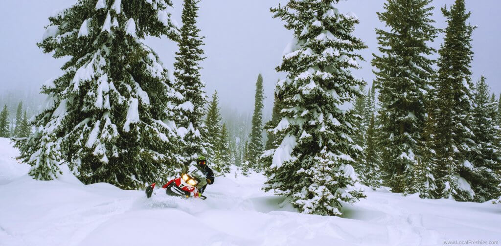 McCall Idaho Brundage Burgdorf Hot Springs Snowmobiling Pow Slash