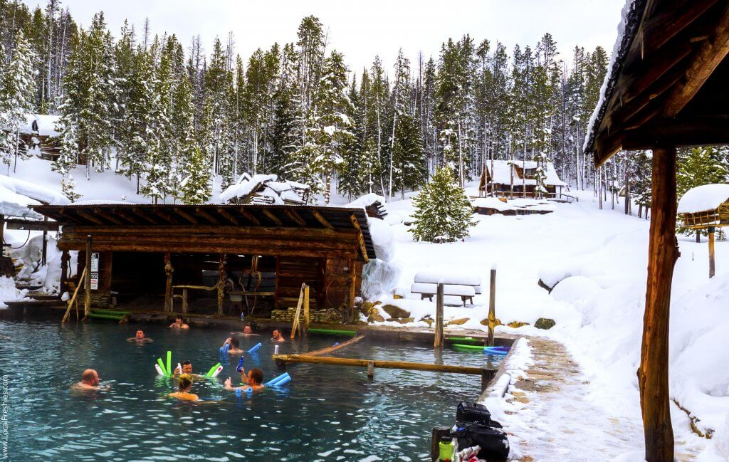 McCall Idaho Brundage Burgdorf Hot Springs Pool Winter