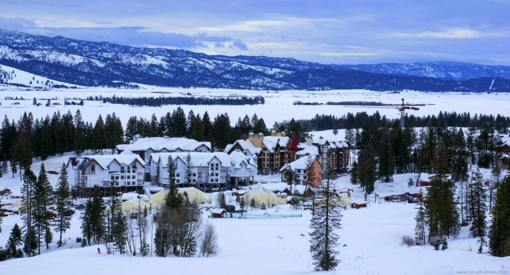 McCall Donnelly Idaho Tamarack Ski Resort Winter Village