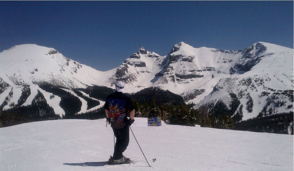 Sunshine Village Alberta Canada best spring skiing View
