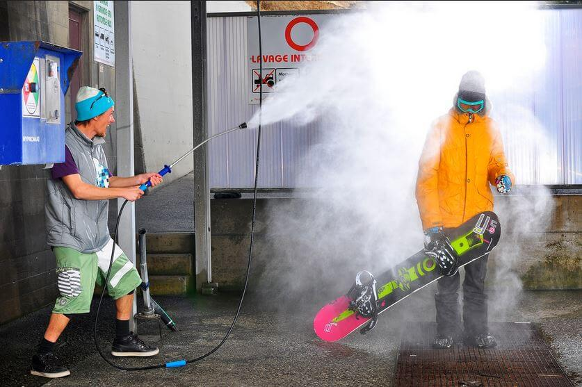 summer prep for skis & snowboard wash