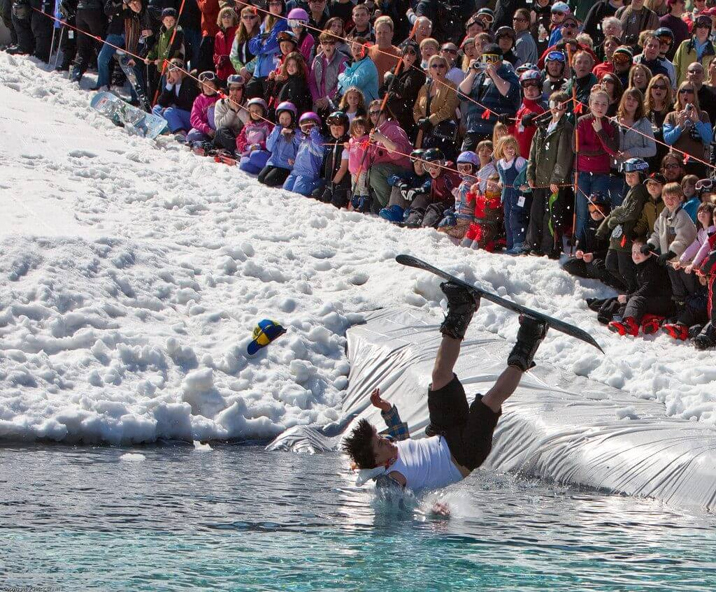 Sugarbush Vermont Best Pond Skimming Events spring skiing