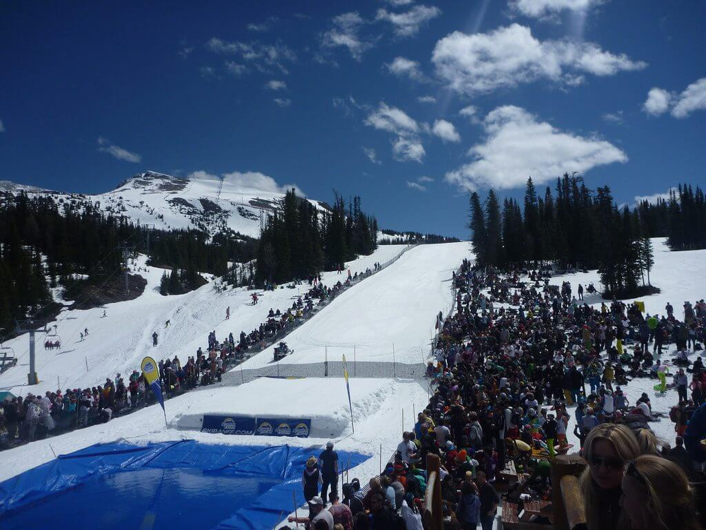 Sunshine Village Banff AB Canada Best Pond Skimming Events spring skiing
