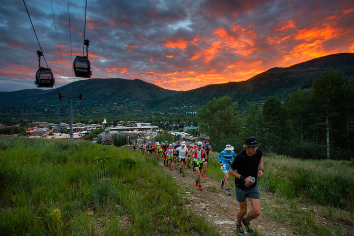 Best Trail Running Races in the US Aspen Snowmass Colorado Power of 4 Race Sunset