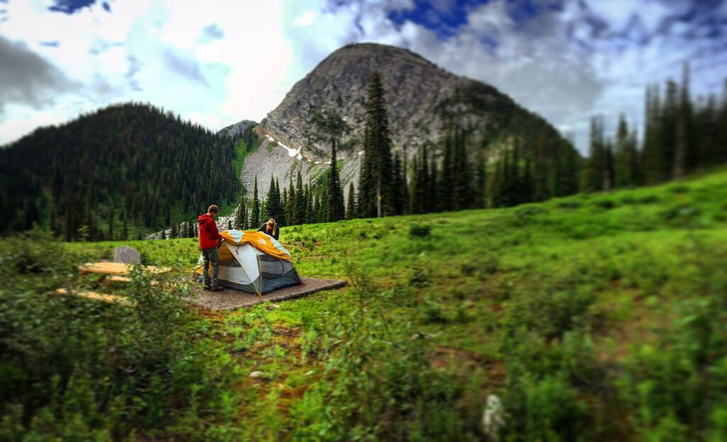 lift accessed camping fernie british columbia canada mountains snow