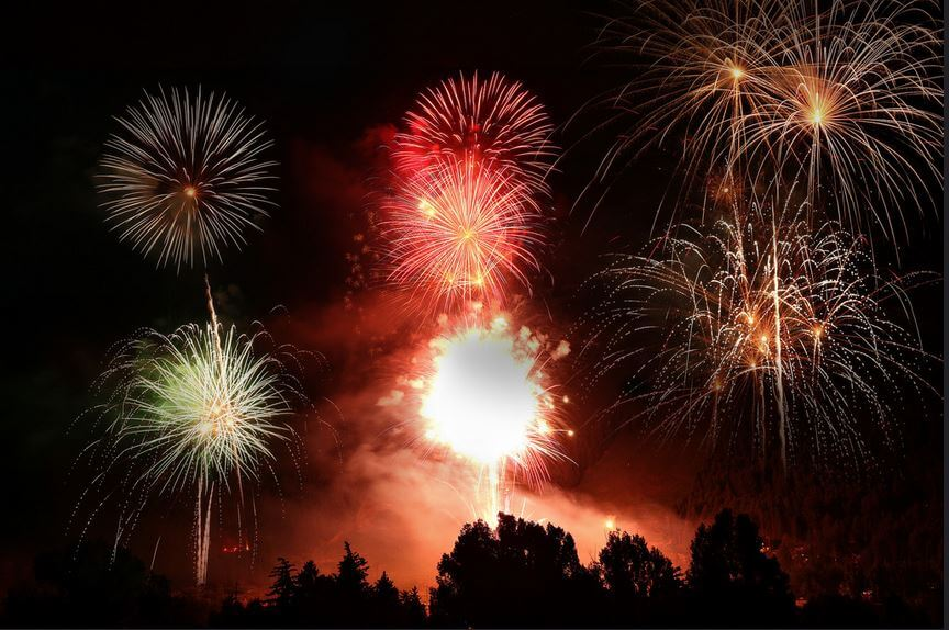 Best Ski towns for 4th of July Fireworks 2017 Jackson Hole Wyoming Summer Grand Tetons Night Shot