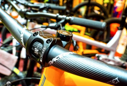 Tubeless Mountain Bike Close-up Racetac Bike Handles