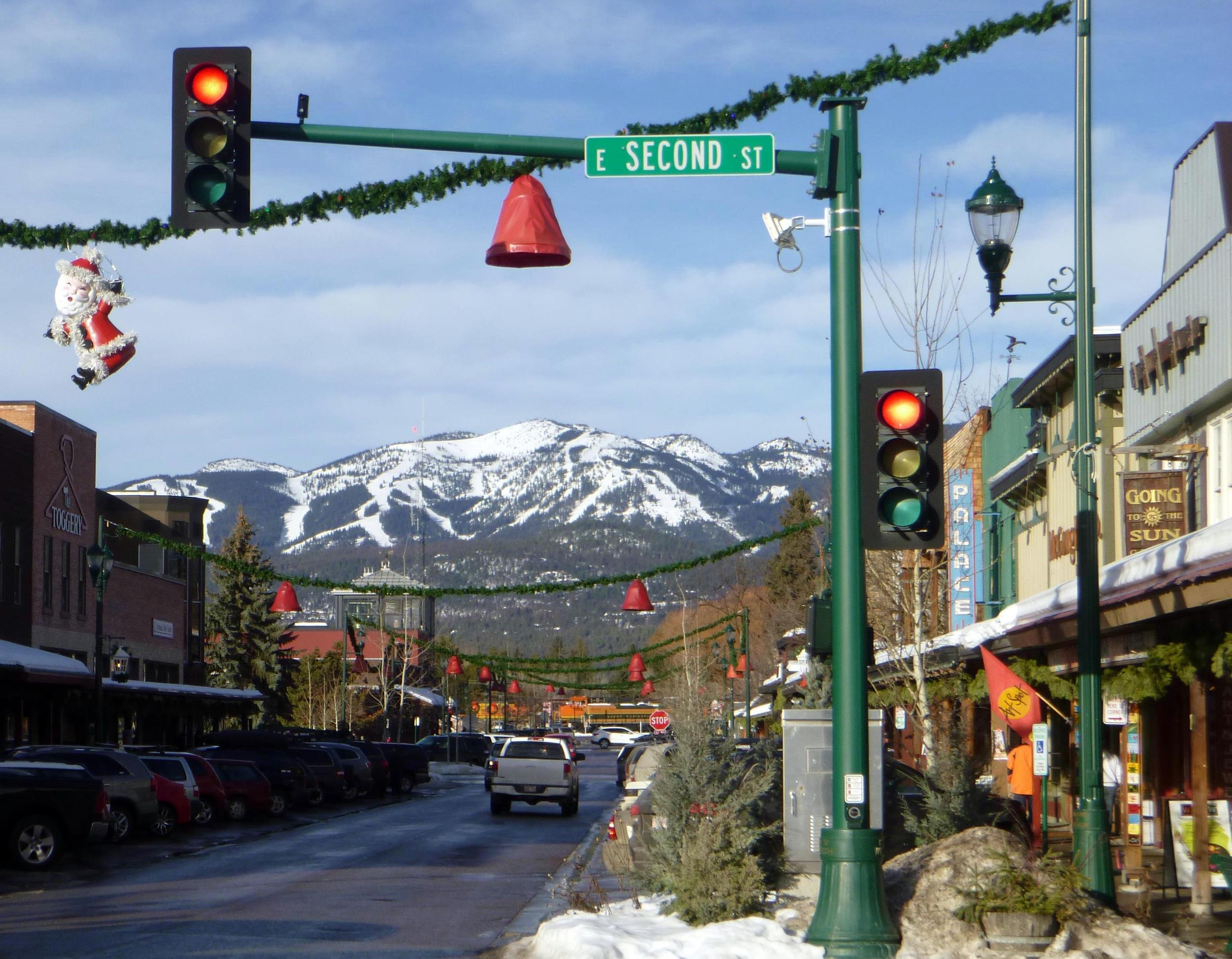 Downtown Whitefish Mountain Resort Montana Snowboard Travel Guide
