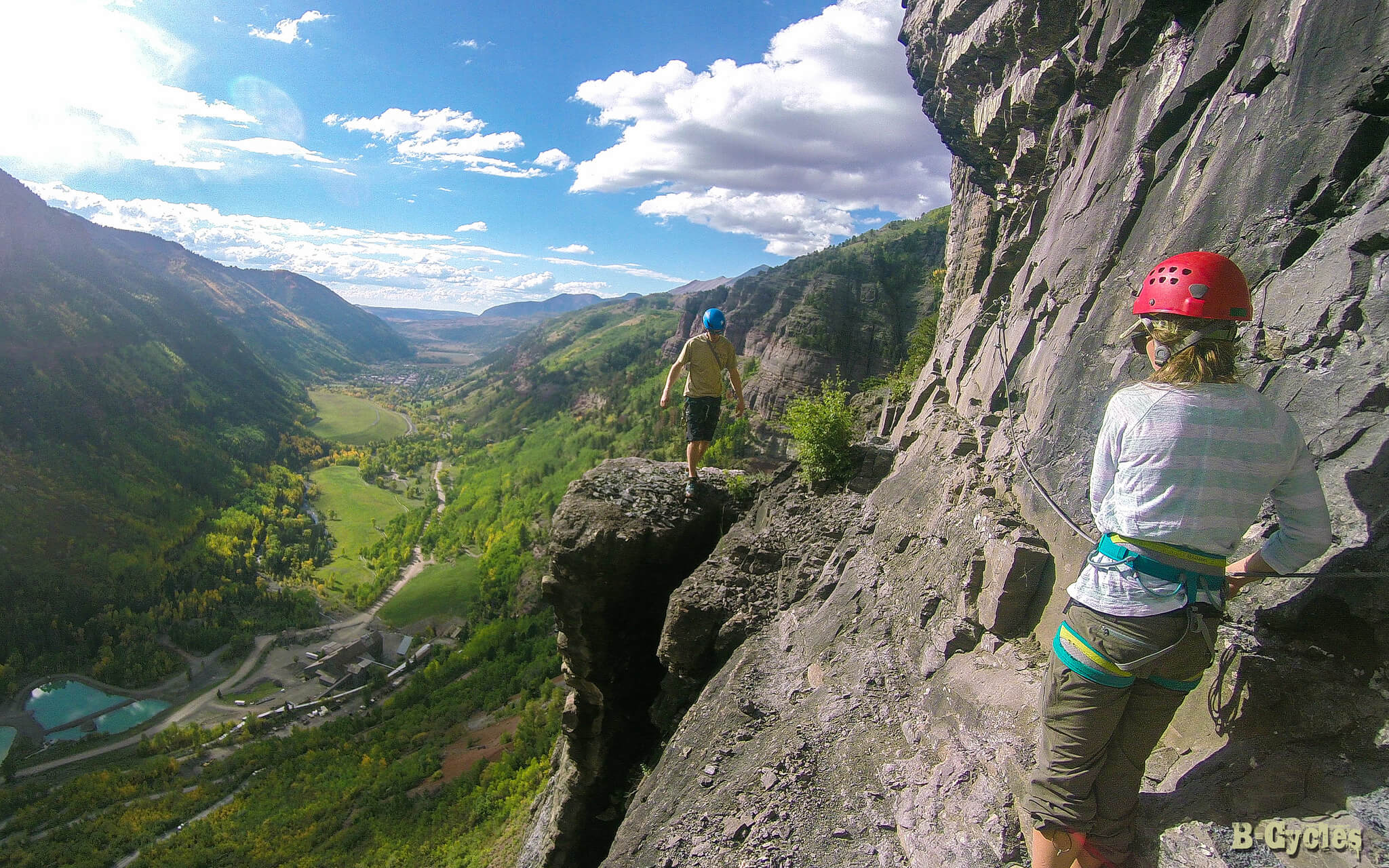 best via ferrata in North America Telluride Colorado Box Canyon Southwest US