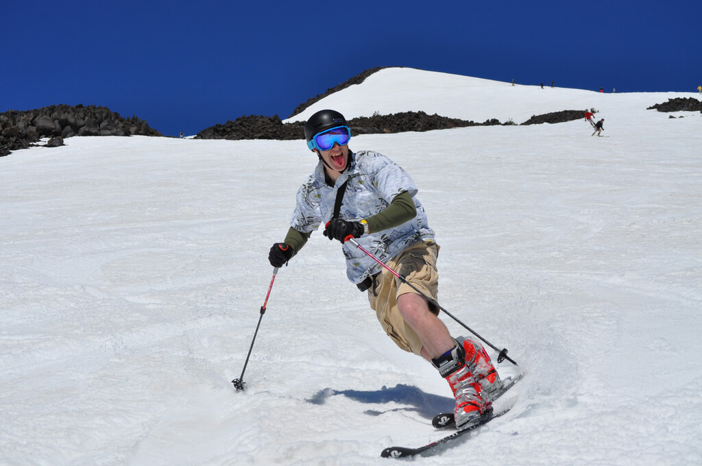 Mt Bachelor open on July 4th Mt. Bachelor Summit Dormant Volcano summer skiing snowboarding