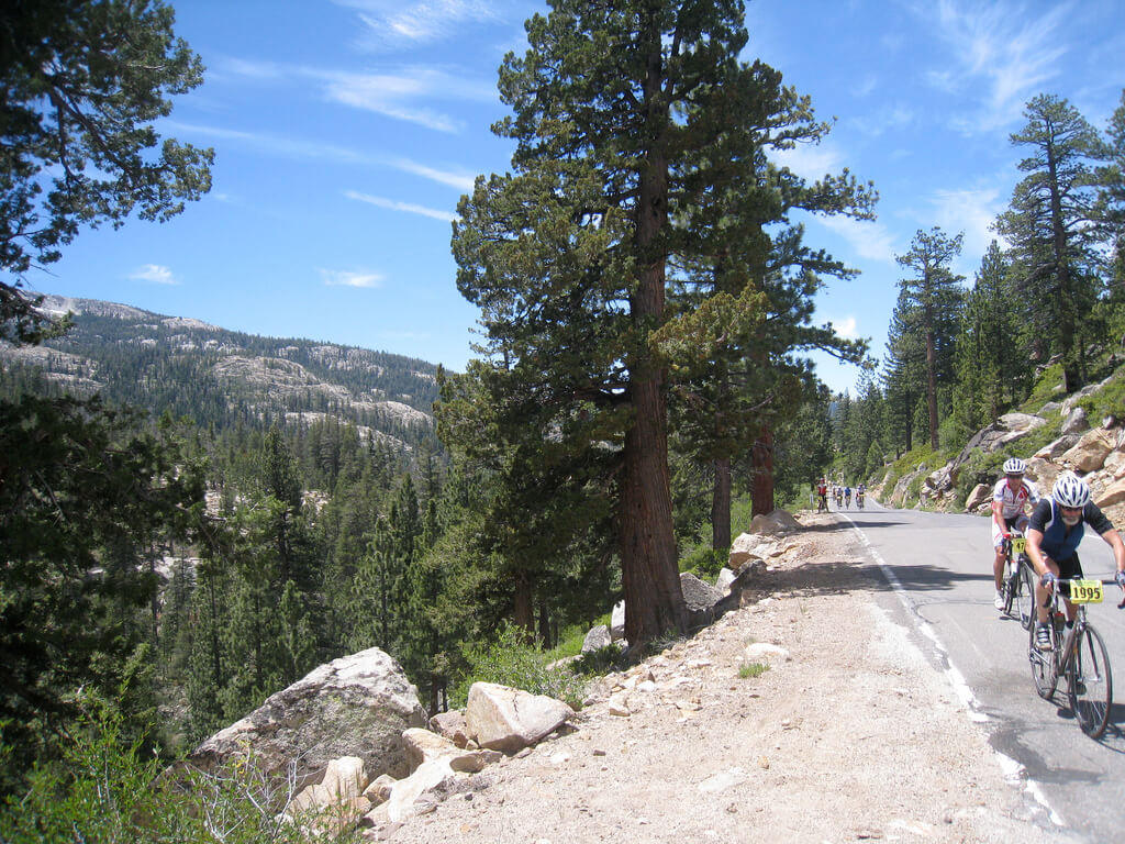 Death Ride 2017 California Road Bike Race Ebbetts Pass Summer Scenic View Classic Road Bike Race