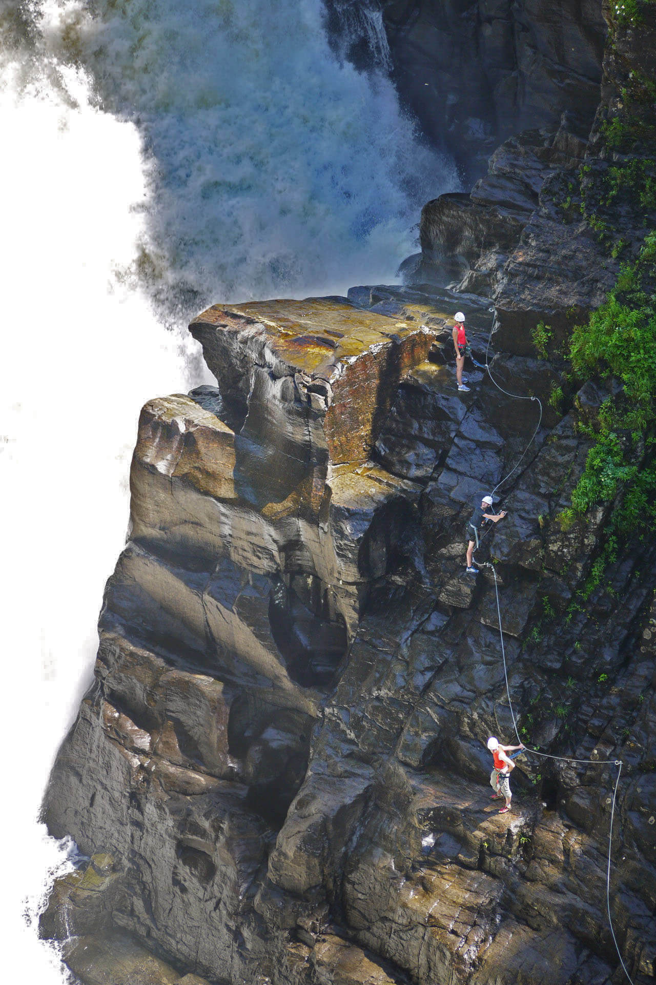 best via ferrata in North America Canyon Sainte-Anne Quebec Waterfall Climbing