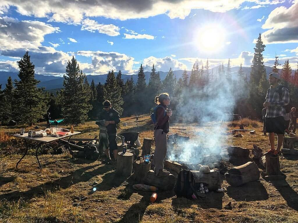 Upslope Brewing Backcountry Tap Room Colorado hiking campfire