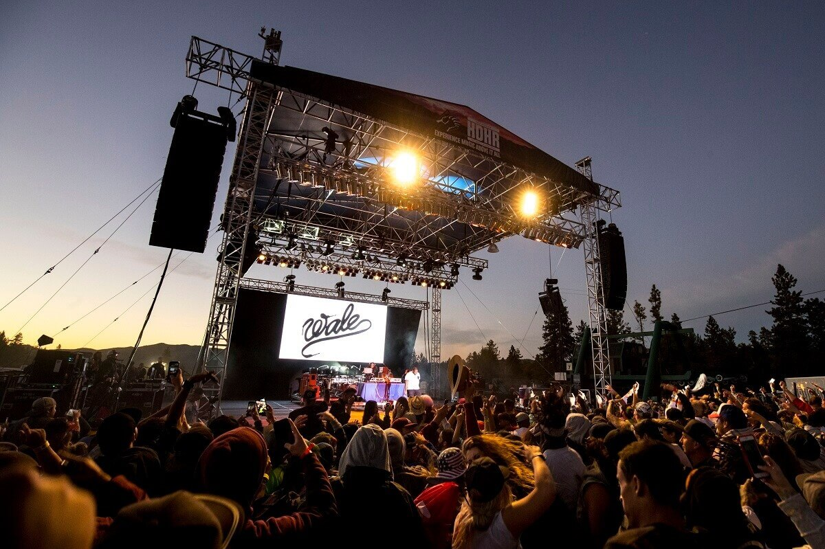 Big Bear Mountain Resort Hot Dowgs & Handrails California So Cal Music show