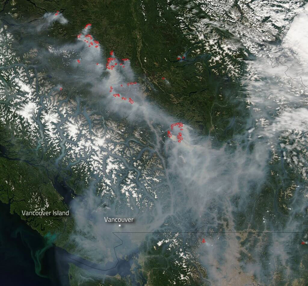 NASA British Columbia Forest Fires Space