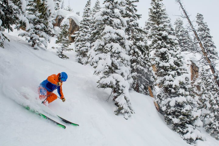 History of Snowmass carving powder skiing
