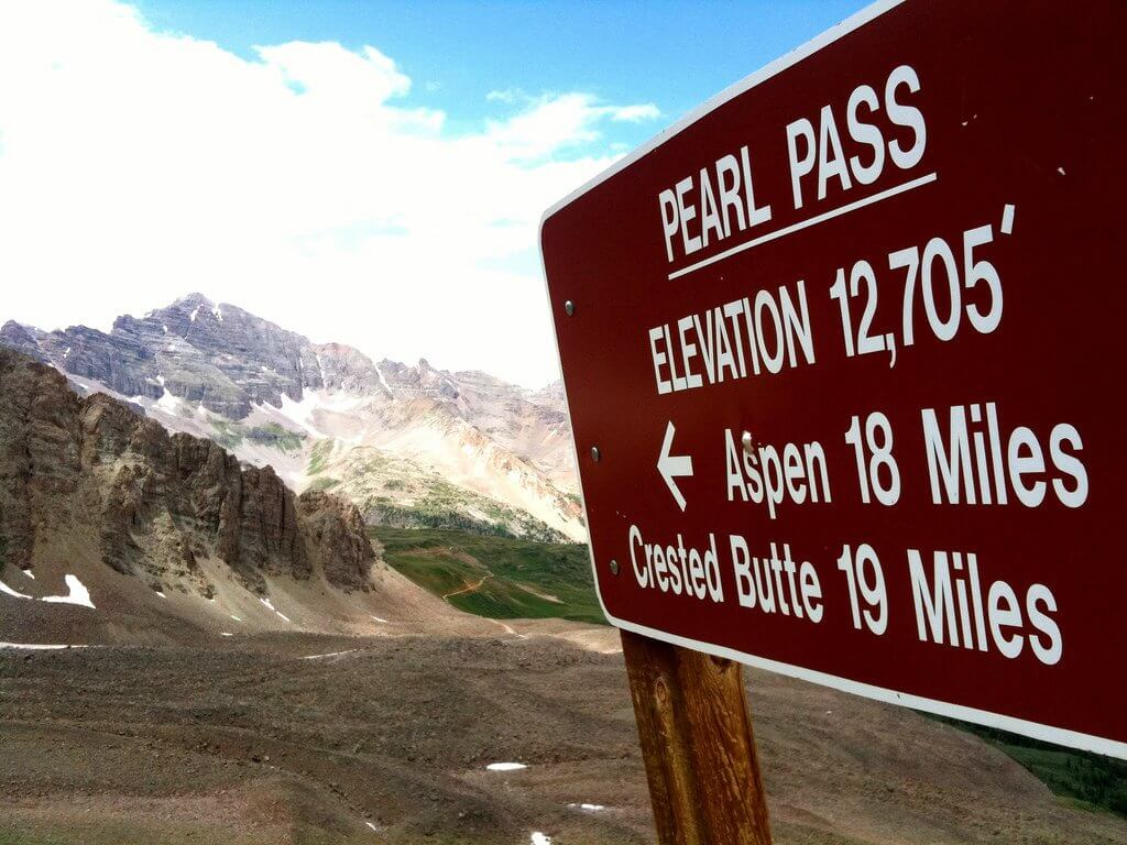 Pearl Pass Tour Highest Colorado Pass Sign Aspen Crested Butte