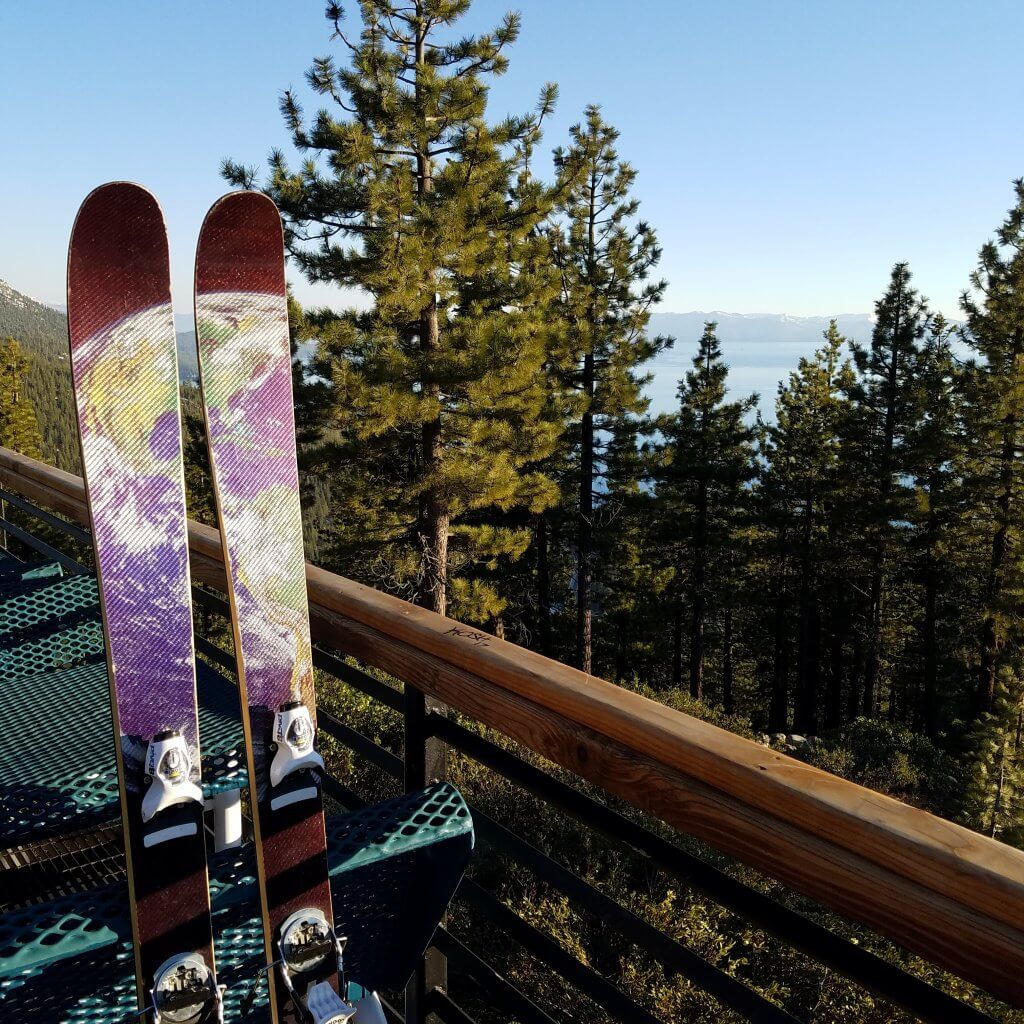 Skis made in the US Slant Skis Diamond Peak mid-mountain lodge