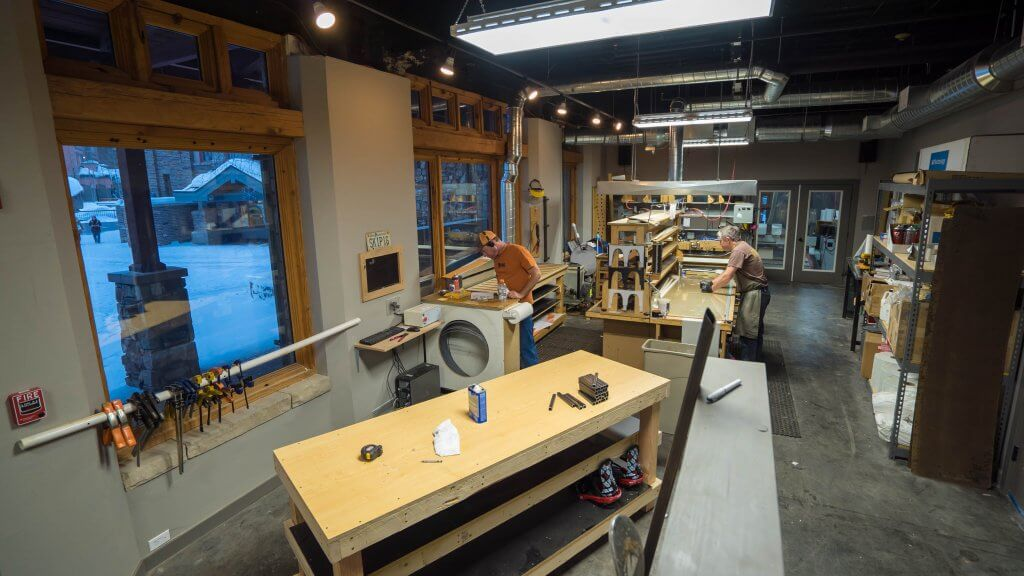 Skis made in the US Wagner Custom Skis Factory Telluride Colorado