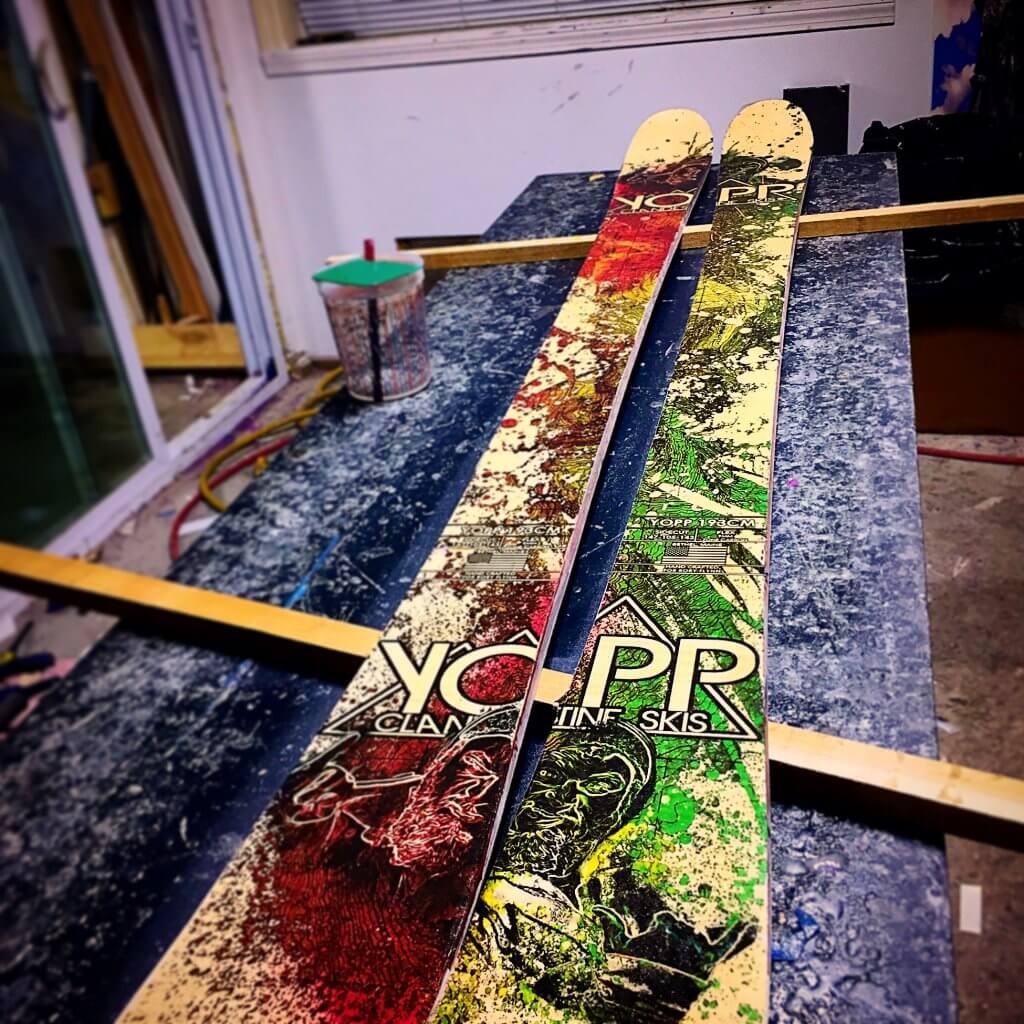 Skis made in the US Yopp Skis Bethel Maine Manufacturing