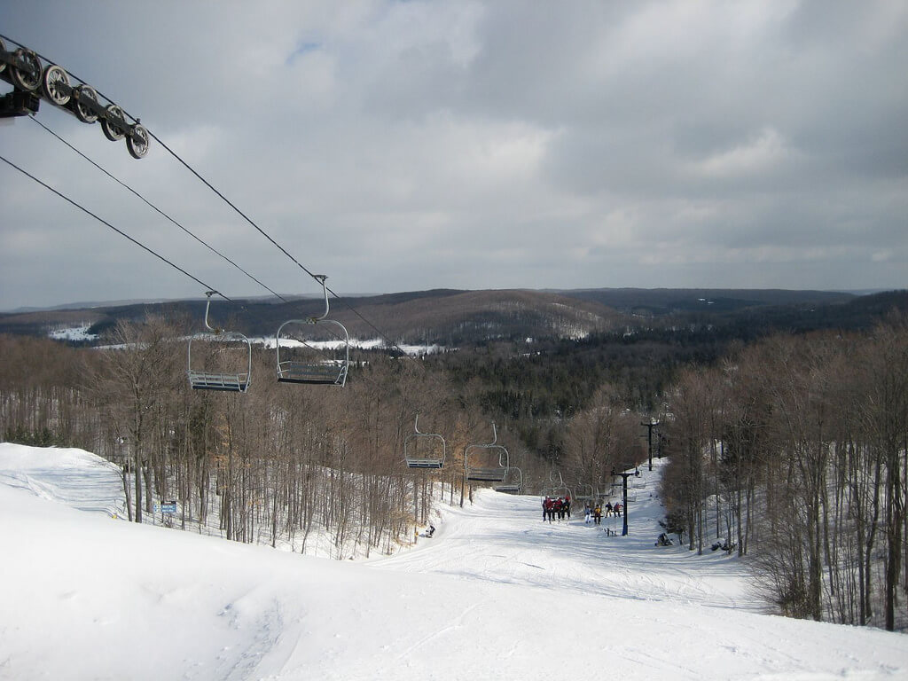 Otsego Ski Club freshly groomed slopes cordoruy Michigan