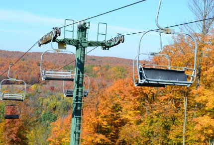 Otsego Ski Club Fall Foliage Lower Peninsula Michigan