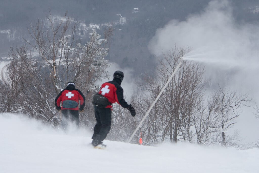 largest snowmaking system in North America Hunter Mountain New York snowmaking
