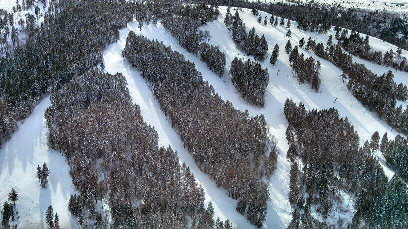 Kelly Canyon Birds Eye View Eastern Idaho Skiing
