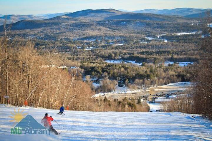 Mt Abram Ski Area Maine groomed corduroy Cheap Ski Resorts