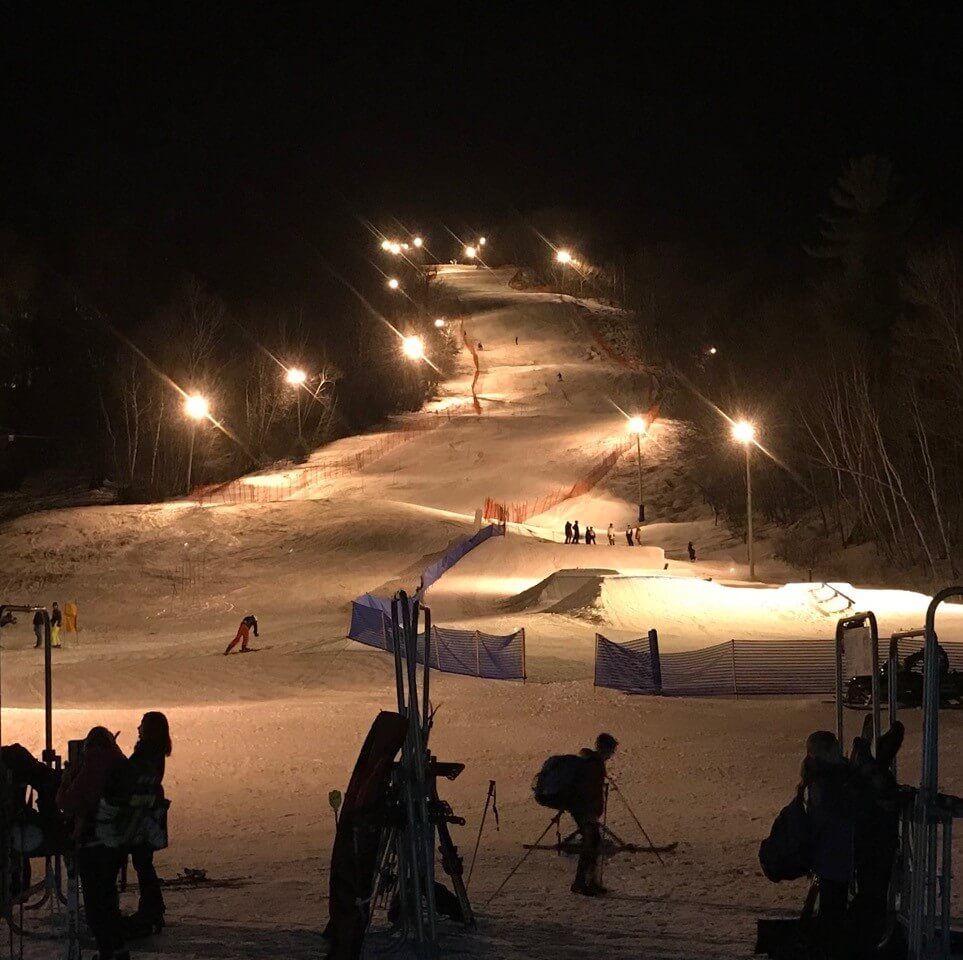 Mt Abram Ski Area Maine night skiing Cheap Ski Resorts