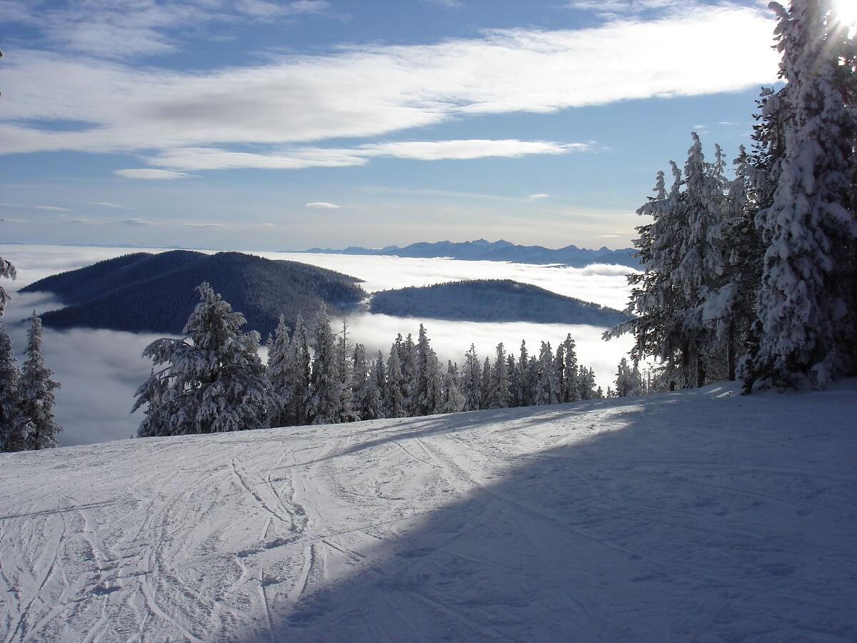 Turner Mountain Montana Cheap Ski Resorts inversion packed powder summit shot