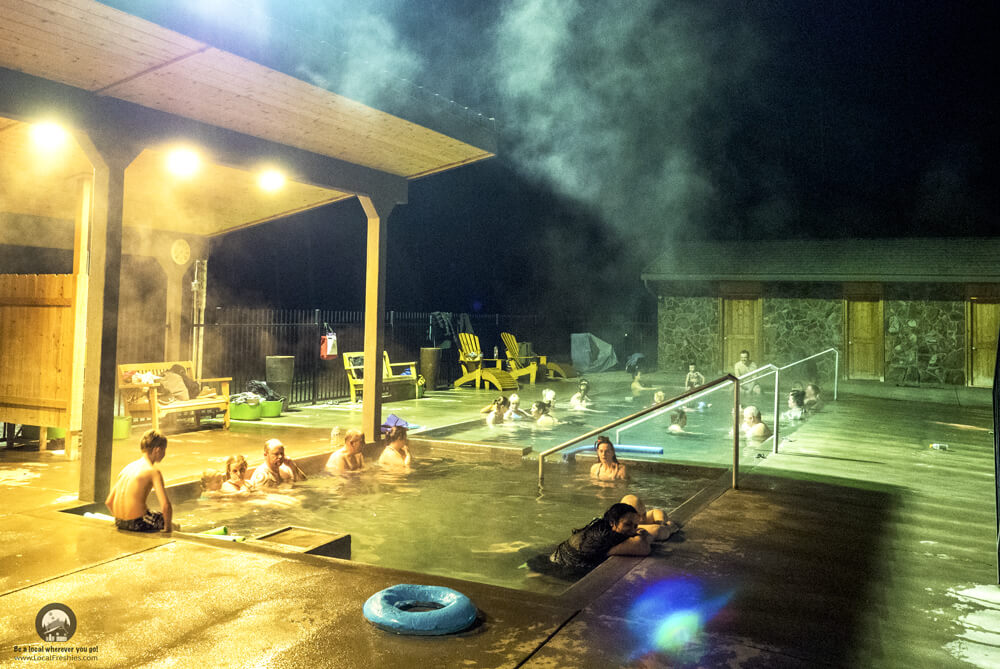 Miracle Hot Springs at night