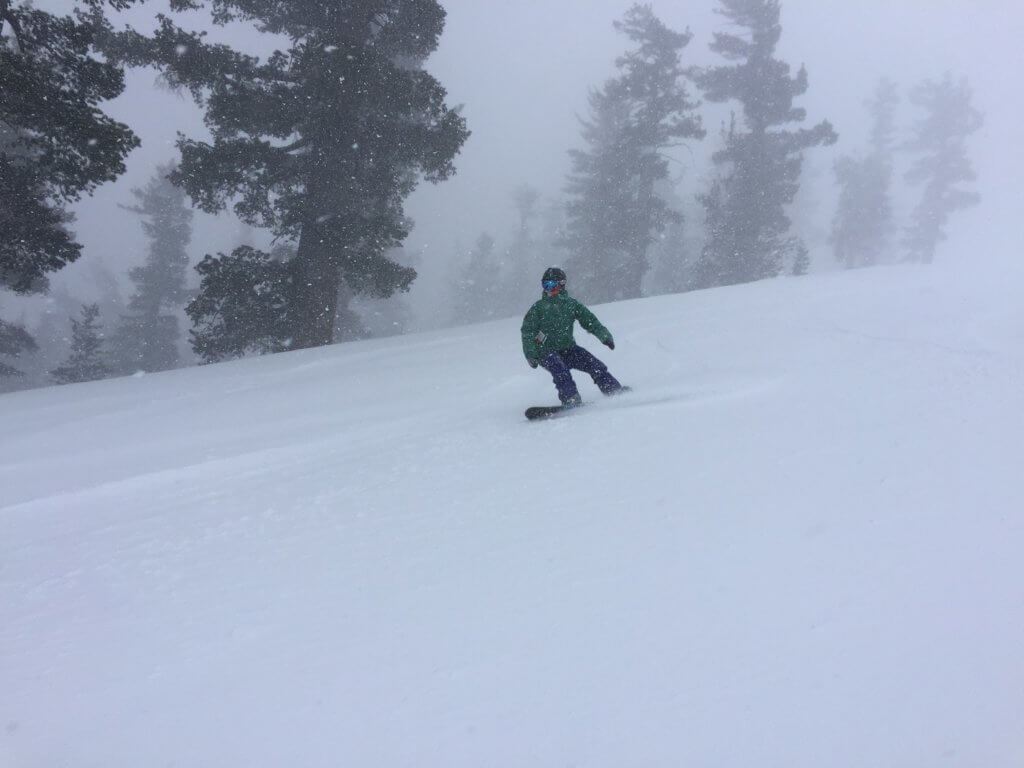 Skiing adventure during an epic snowstorm at Heavenly Mountain Resort