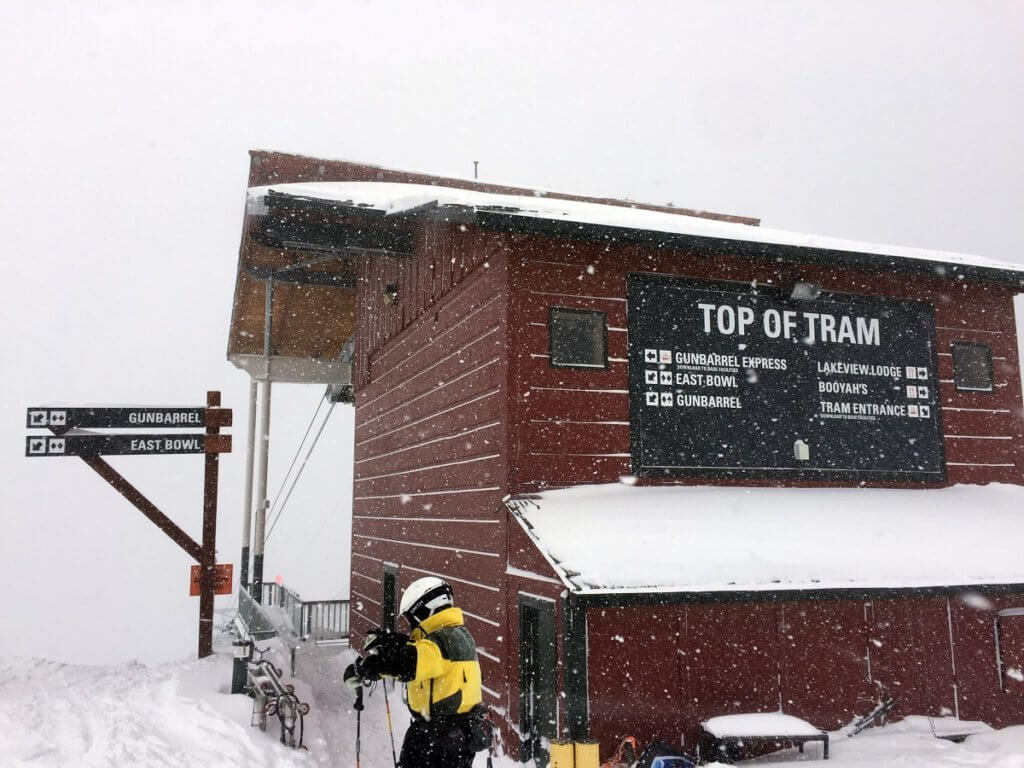 Top of Heavenly Tram Gunbarrel awaiting a skiing adventure