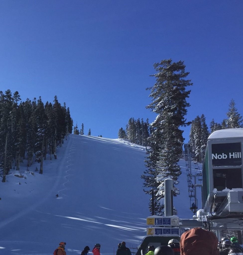 Sierra at Tahoe Ski Patrol Powder Turns Miracle March 2018 Nob Hill Chairlift