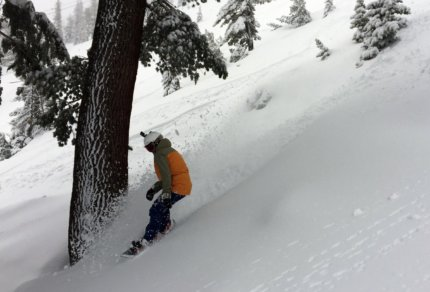 Mt Rose Avalanche Control Miracle March Pineapple Express in Lake Tahoe Sierra Cement Deep Powder