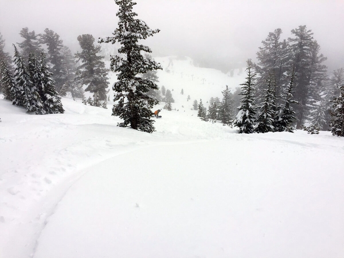 Mt Rose Avalanche Control Miracle March Pineapple Express in Lake Tahoe Sierra Powder