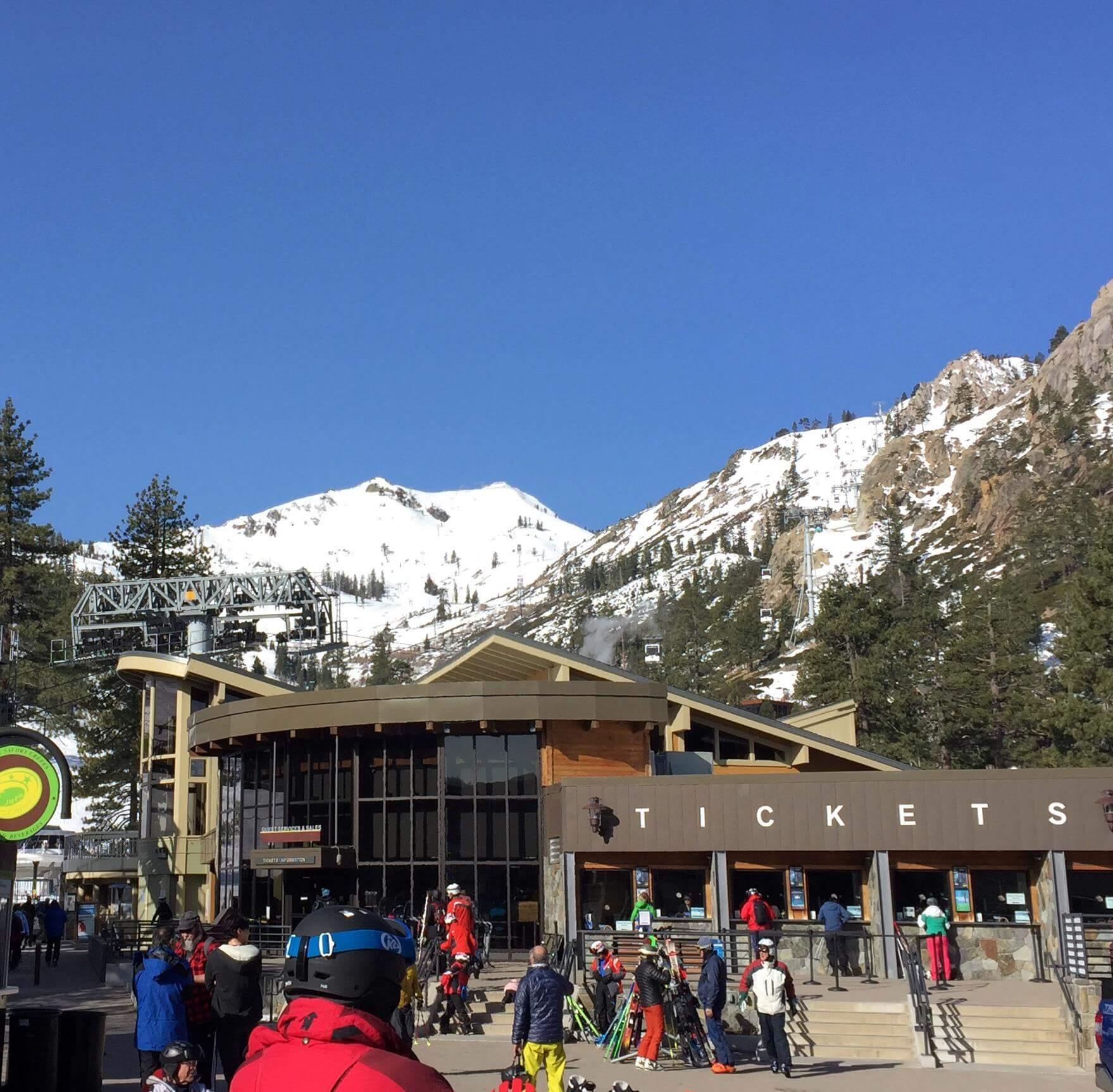 Squaw Valley Spring Skiing Lake Tahoe California