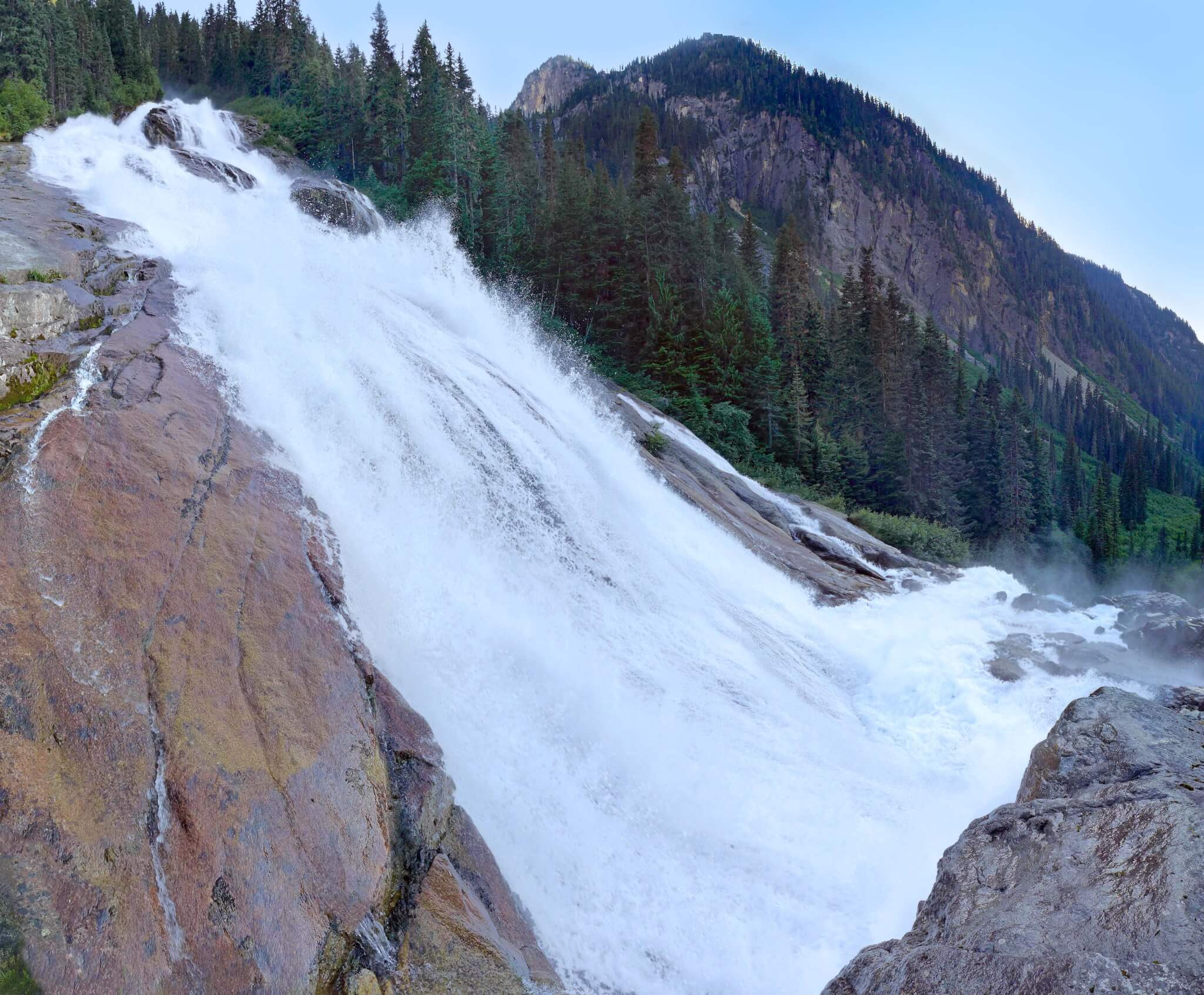Depot Creek falls panorama Chilliwack