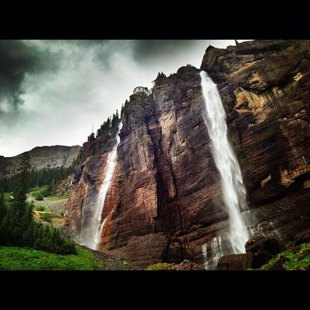 Bridal Veil Falls Telluride Colorado Rockies